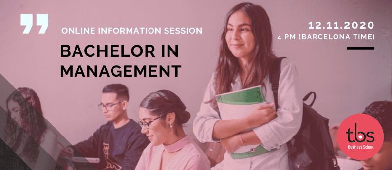 TBS Bachelor in Management sesión informativa